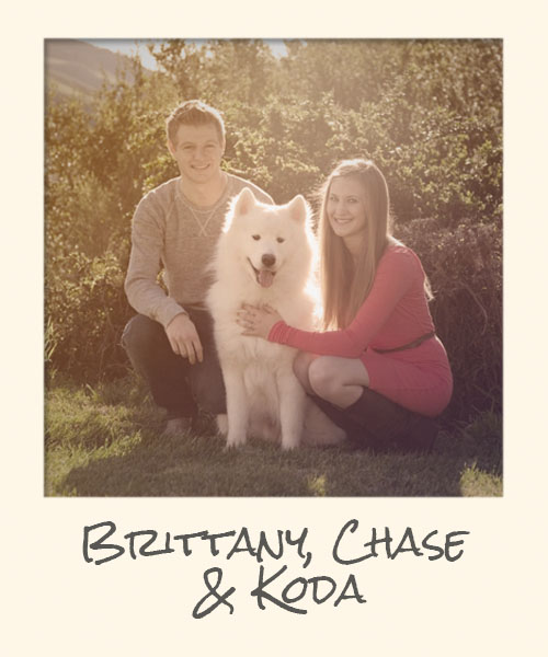 Brittany Chase and Our dog Koda
